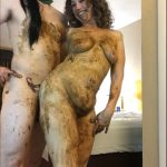 Getting Smeared with Green Masked Fan Amateur Scat goddess amanda