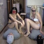 2 slaves VS 2 mistresses. Sport competitions! Human Toilet MilanaSmelly