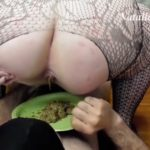 Double dish of shit from two Mistresses – BBW Femdom Scat Slavery