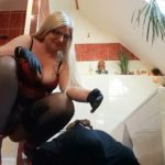 Record-breaking mega shit sausage for the next slave mouth! Part 2