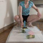 Emily Milk's Pro Pooper! 2 Big Dildo On Skate Board